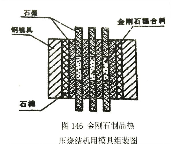 金刚石制品热压结机用模具组装图