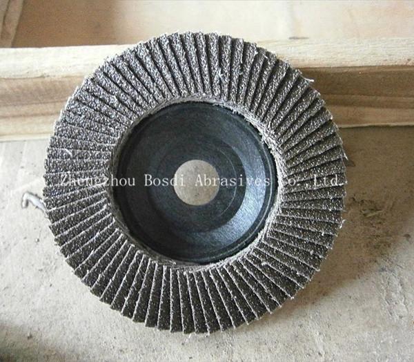 網蓋增強型 可彎曲彈性磨盤 煅燒三菱砂布