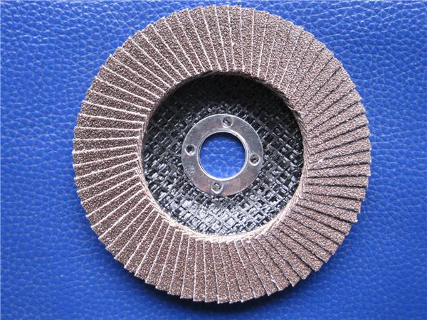 煅燒三菱砂布 百葉拋光輪 鋒利耐用  4''角磨機專用
